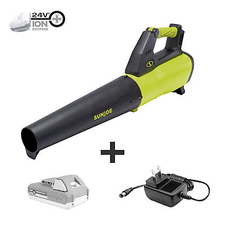 Sun Joe 24V Jet Leaf Blower, 24V-JB-LTE
