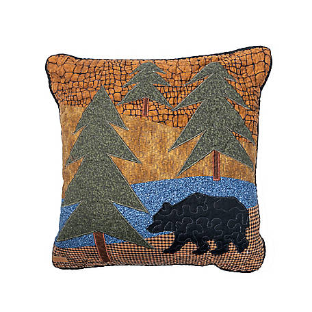 Donna Sharp Midnight Bear Dec Pillow, 90901