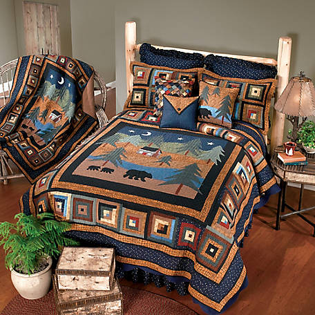 Donna Sharp Midnight Bear King Quilt. 90907