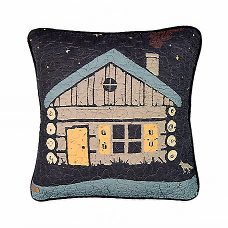 Donna Sharp Moonlit Cabin Decorative Pillow,61201