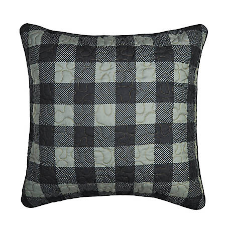 Donna Sharp Bear Walk Plaid Decorative Square Pillow, 33421
