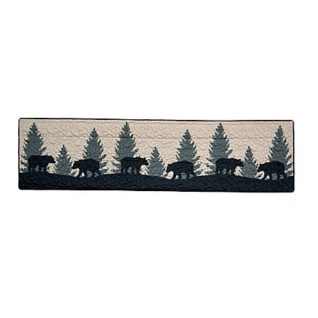 Donna Sharp Bear Walk Plaid Valance Runner, 33429