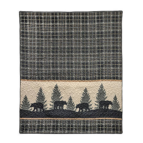 Donna Sharp Bear Walk Plaid Throw, 33430