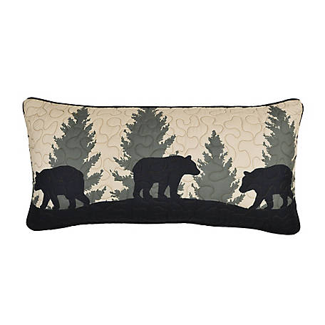 Donna Sharp Bear Walk Plaid Decorative Rectl Pillow, 33463