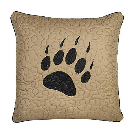 Donna Sharp Bear Walk Plaid Decorative Paw Pillow, 33464