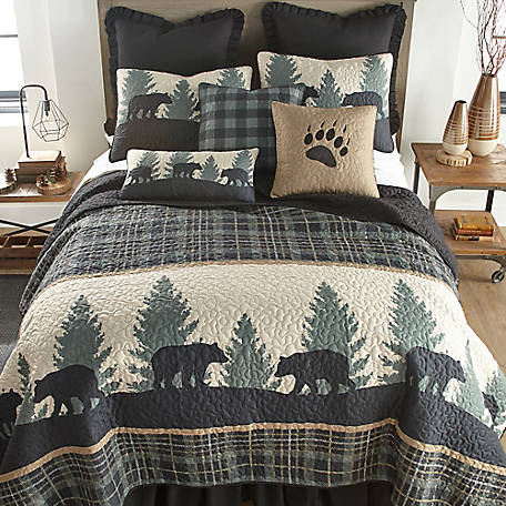 Donna Sharp Bear Walk Plaid Deluxe King Quilt, 33428