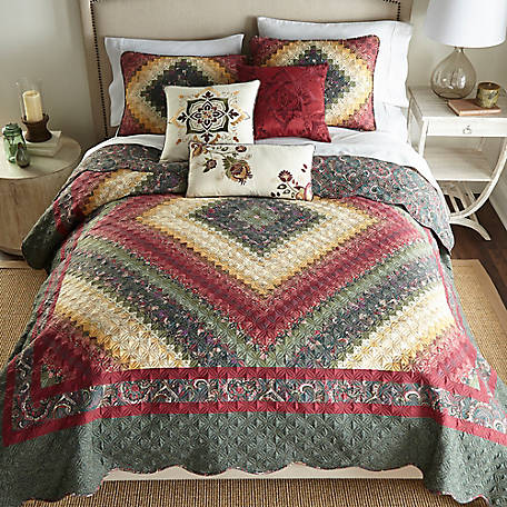 Donna Sharp Spice Postage Stamp Deluxe King Quilt, 52011