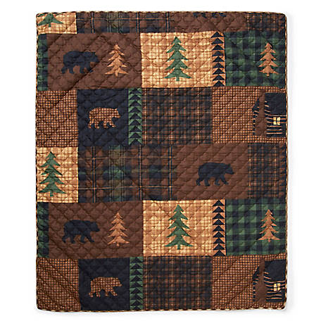 Donna Sharp Brown Bear Cabin Throw, Y20008