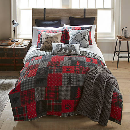 Donna Sharp Red Forest Twin Quilt Set, Y20014