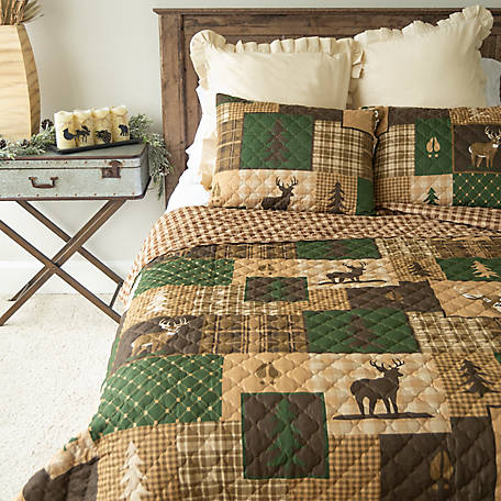 Donna Sharp Green Forest King Quilt Set, Y20027
