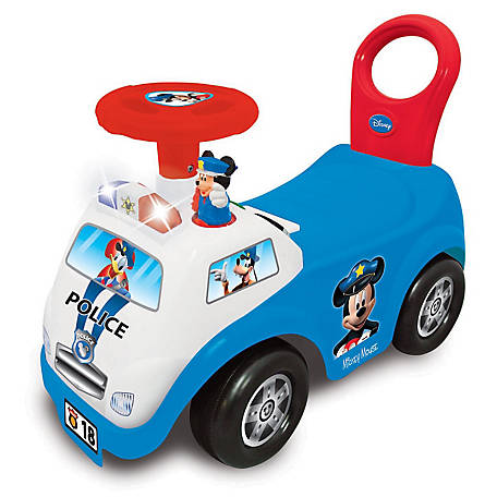 Kiddieland Disney Mickey Mouse My First Mickey Police Car Light & Sound Activity Ride-On, 52720