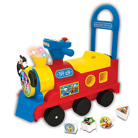 Kiddieland Disney Mickey Mouse Clubhouse Play n' Sort Activity Train Ride-On, 54874