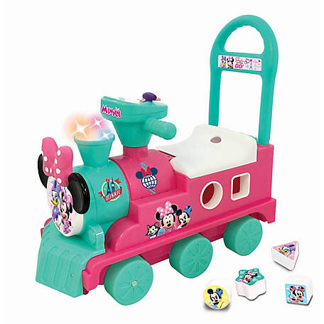 Kiddieland Disney Minnie Mouse Play n' Sort Activity Train Ride-On, 54882