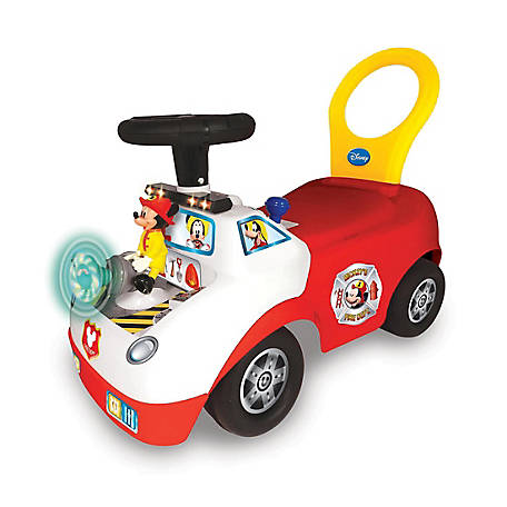 Kiddieland Disney Mickey Mouse Activity Fire Truck Light & Sound Activity Ride-On, 55681