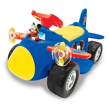 Kiddieland Disney Mickey Mouse Battery-Powered Ride-on Airplane, 58966