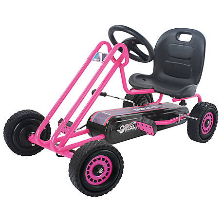 Hauck Lightning Ride-On Pedal Go-Kart Pink, T90104