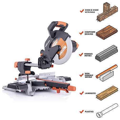 Evolution 15 Amp 10 in. Sliding Compound Miter Saw, R255SMSL