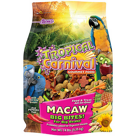 Tropical Carnival Gourmet Macaw Big Bite, 14 lb., 44688