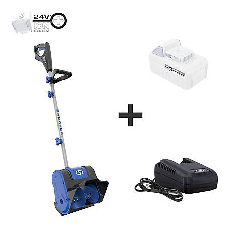 Snow Joe 24-Volt iON+ 5.0-Ah 10 in. Cordless Snow Shovel Kit, 24V-SS10-XR