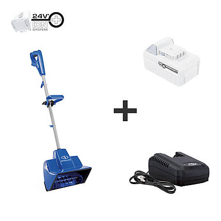 Snow Joe 24V iON+ 5Ah 11 in. Cordless Snow Shovel Kit, 24V-SS11-XR