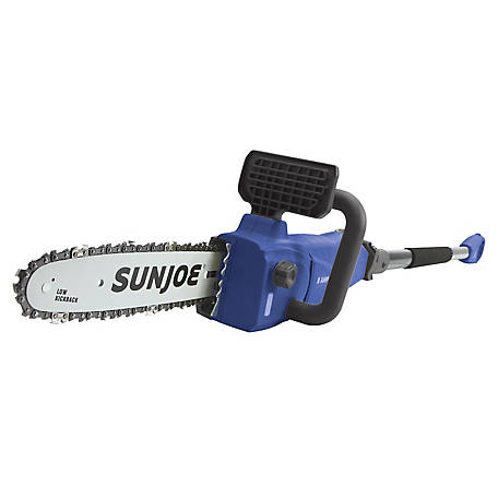 Sun Joe 10 in. 8 Amp Convertible Electric Telescoping Pole Chain Saw, SWJ807E-SJB