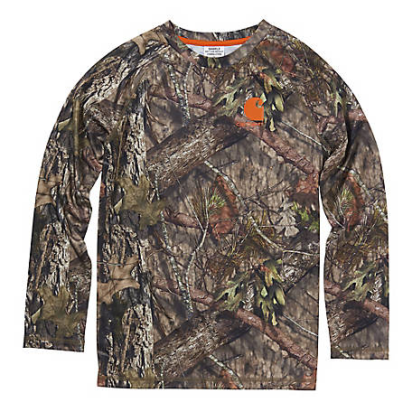Carhartt Boys' Boy's Long Sleeve Force Camo Tee, CA8983-CR08