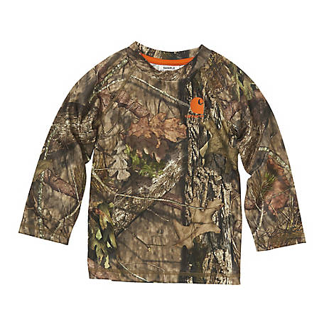 Carhartt Infant Boy's Long Sleeve Force Camo Pocket Tee, CA8984-CR08