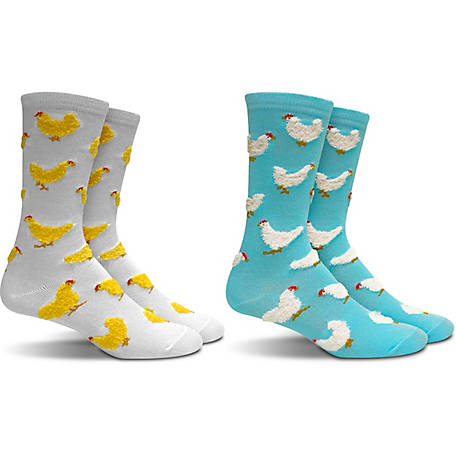 IQ Ladies Chicken Crew Sock 2 pk. Ywgy IQW-006YH-9
