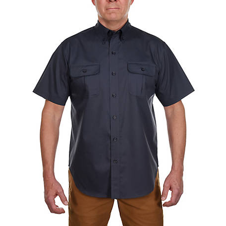 Ridgecut Men's Short Sleeve Solid Twill Shirt with OSM Shield