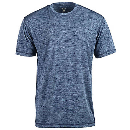 Blue Mountain Men's Short Sleeve Poly Wicking Tee