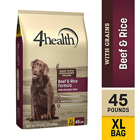 4health Original Beef & Rice Formula Adult Dog Food, 45 lb. Bag