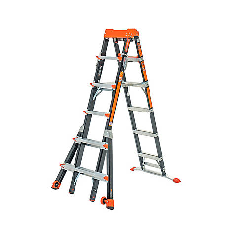Little Giant Select Step 6-10 Type IAA Fiber Glass Stepladder, 15131-001