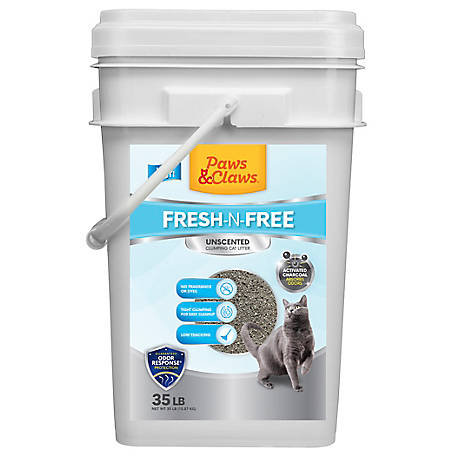 Paws & Claws Clean & Simple Cat Litter, 35 lb, 231934