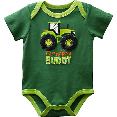 John Deere Infant Boy's Body Shirt Grandpa's Buddy, J1B523GNT