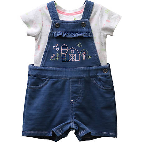 John Deere Girls' Infant Overall T Set, J1S252BFT