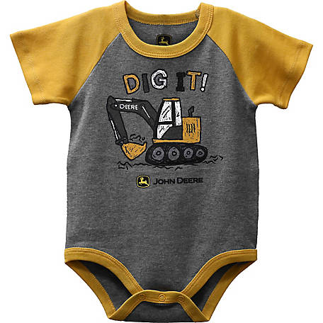 John Deere Infant Boy Body Shirt Dig, J1B525HNT