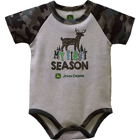 John Deere Infant Boy Body Shirt First Season, J1B524WNT