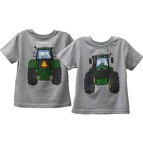 John Deere Boys' Toddler Boy's Tee Shirt Tractor Front Back, J1T536HTT