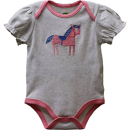 John Deere Girls' Infant Body Shirt Horse App, J1B25