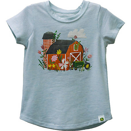 John Deere Girls' Toddler Garden T-Shirt, J1T265BTT
