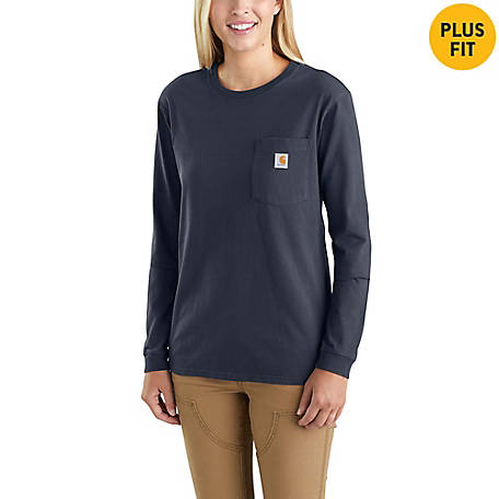 Carhartt Women's Long Sleeve Workwear Pocket Tee Shirt, 103244