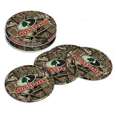 Mossy Oak Tin Coaster Set of 4, MO-68507