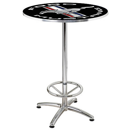 Ford Mustang Cafe Table - 27 in., Black, FRD-42303