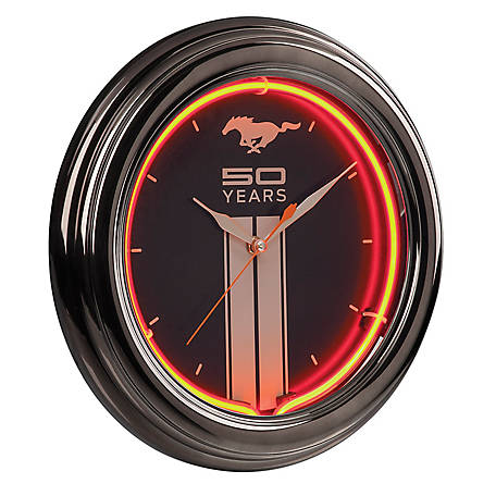 Ford Mustang 50th Neon Clock, FRD-46601