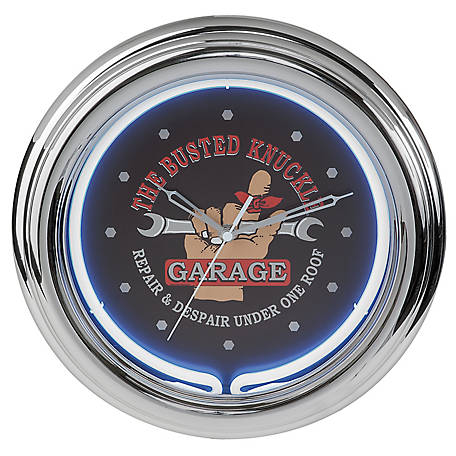 The Busted Knuckle Garage Neon Clock, BKG-76600