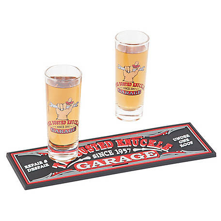 The Busted Knuckle Garage Shot Glass Gift Set, BKG-78703