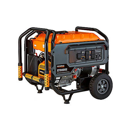 Generac XT8000E - 8000 Watt Electric Start Portable Generator, 49-ST/CSA, 6433, 6433