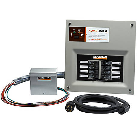 Generac 30 Amp Homelink Manual Transfer Switch Kit Aluminum PIB, 6854