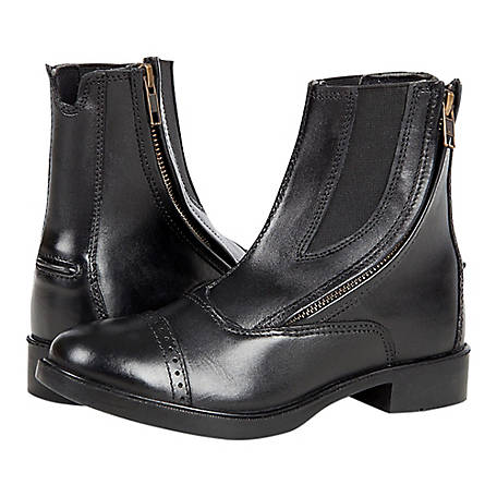 Huntley Equestrian Girls' Children's Zipper Paddock Boots