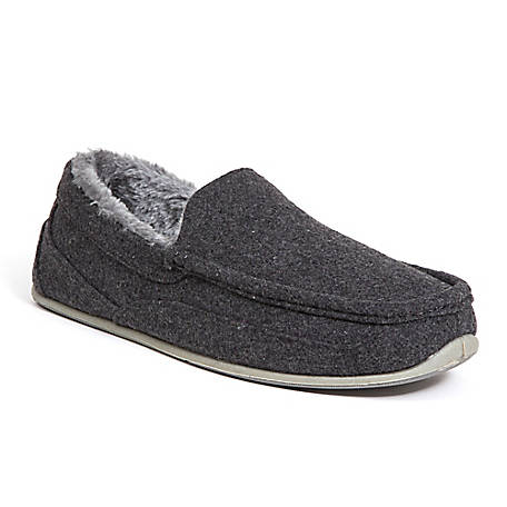 Deer Stags Men's Spun Slipper Felt, SPUN-TFLT